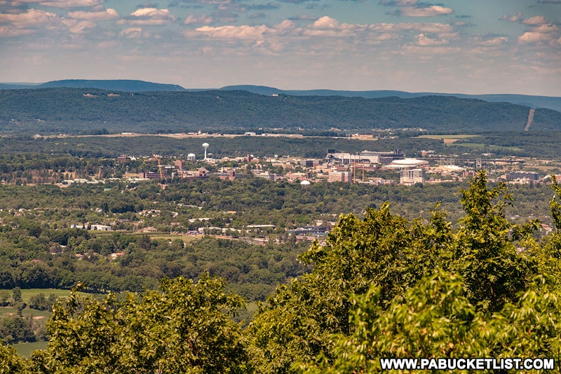 The view from Jo Hay Vista looking into State College and Penn State.