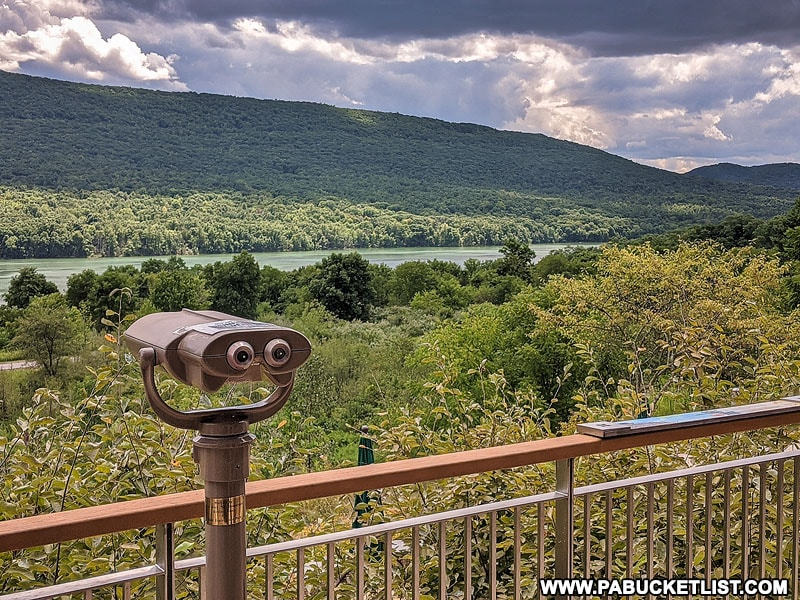 View from the deck at the Nature Inn at Bald Eagle State Park