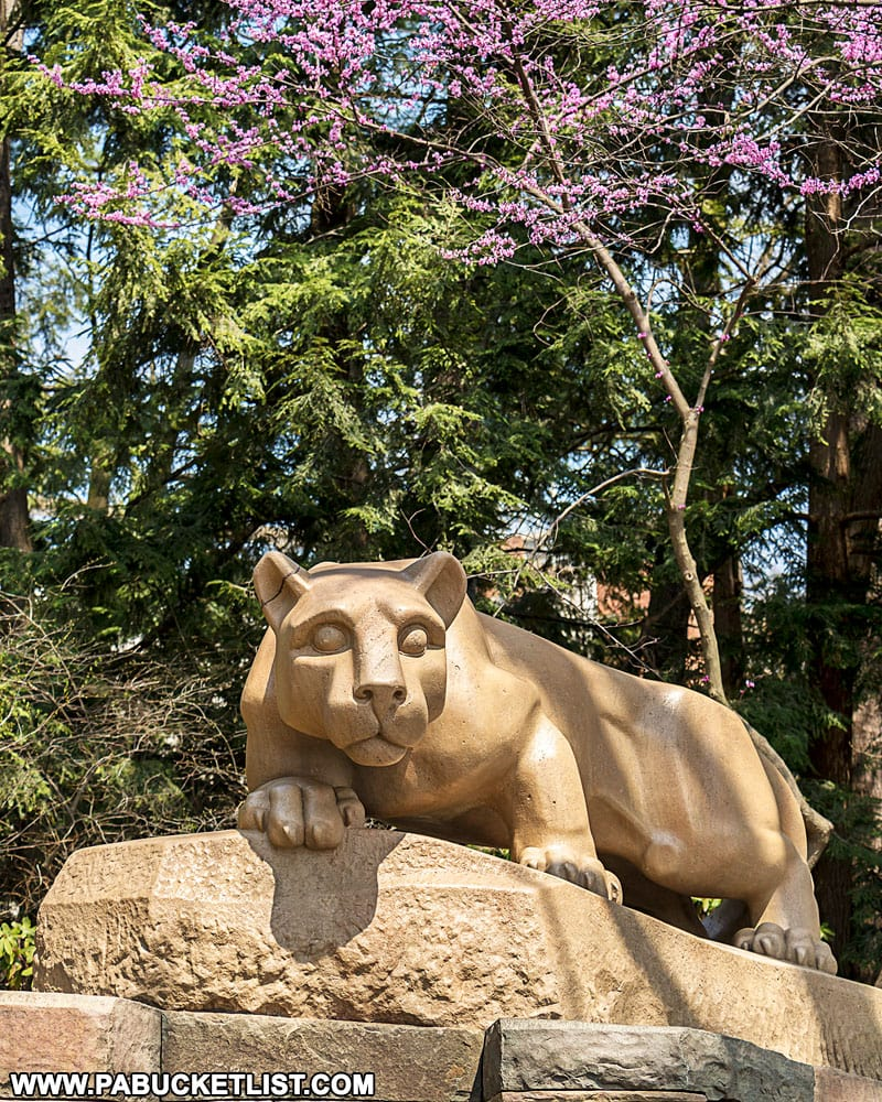 The Nittany Lion Shrine at Penn State University.