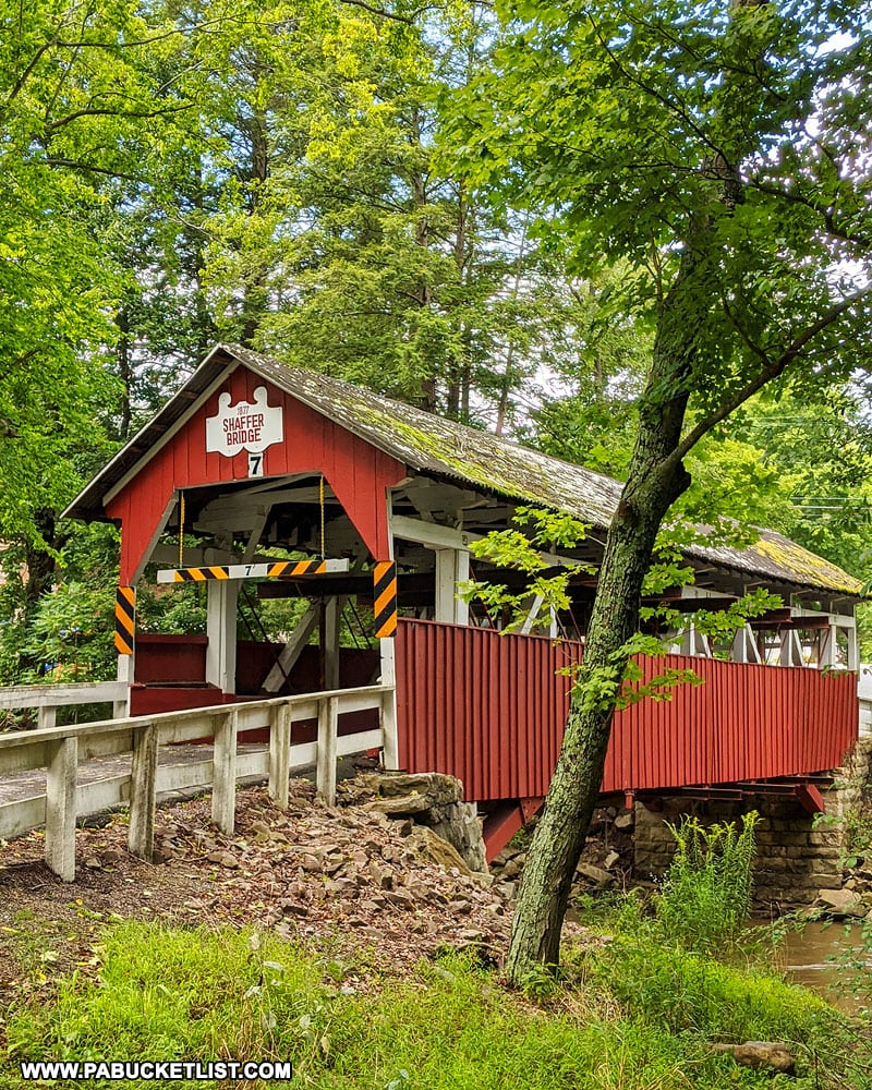 Shaffer Covered Bridge in northern Somerset County PA