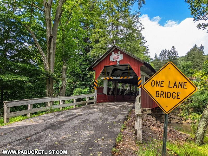 Shaffer Covered Bridge in Somerset County Pennsylvania.