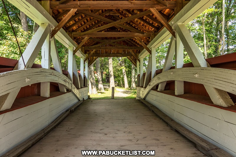 Interior of Walters Mill Covered Bridge in Somerset County PA