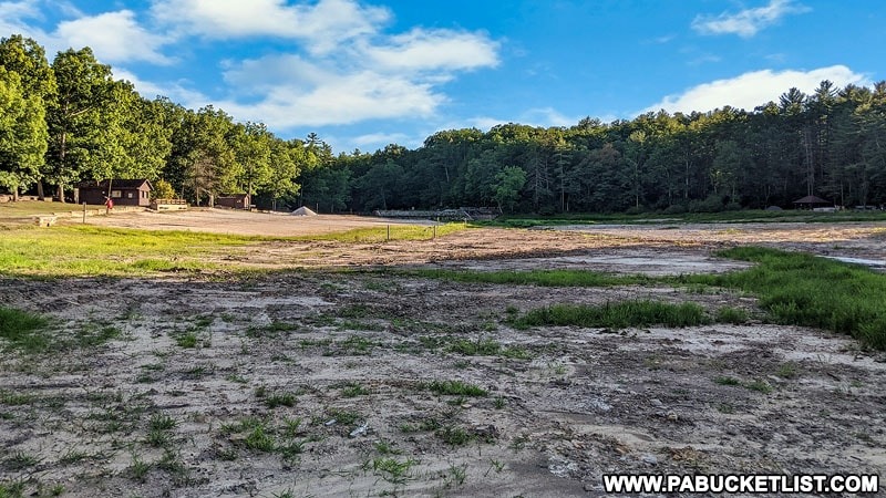 Whipple Lake drained for repairs in the summer of 2020.