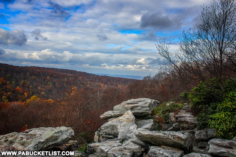 November morning at Wolf Rocks in the Forbes State Forest.