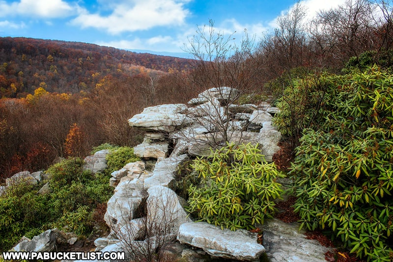 Wolf Rocks Overlook on an autumn morning in the Laurel Highlands.