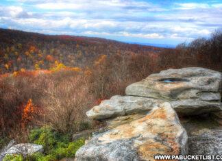 Wolf Rocks Trail in western Pennsylvania.