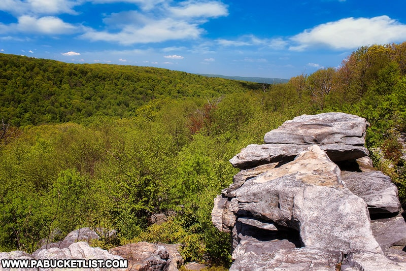 Wolf Rocks Overlook in Somerset County Pennsylvania