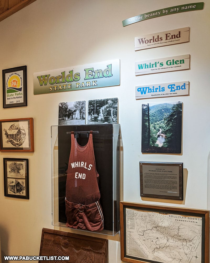 Memorabilia at the Worlds End State Park Visitors Center.