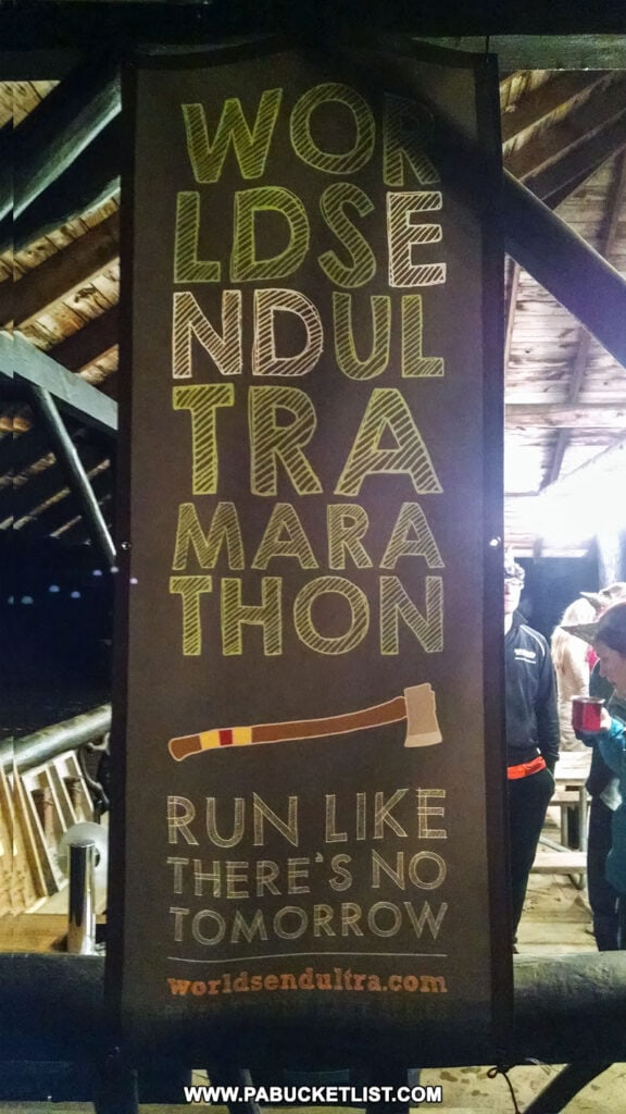 Worlds End Ultramarathon banner.