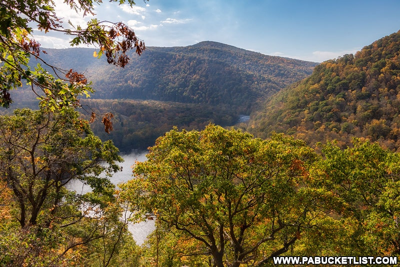 The Youghiogheny River Overlook along the Laurel Highlands Hiking Trail.