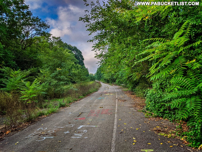 The Breezewood section of the Abandoned PA Turnpike.