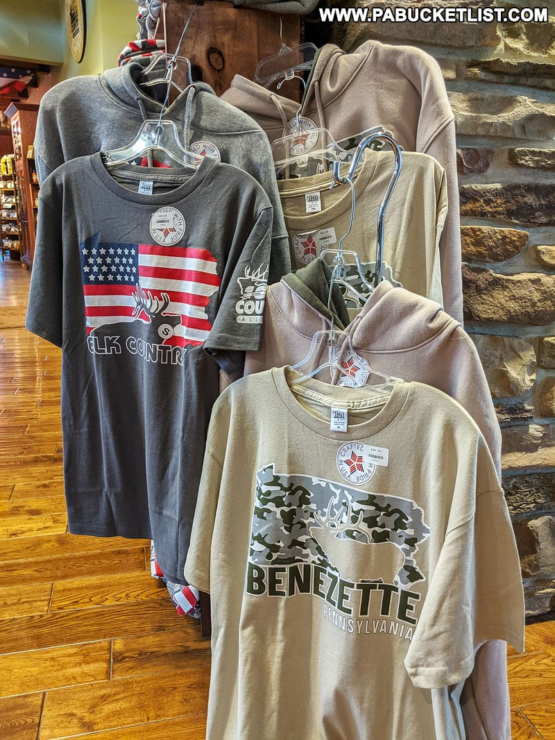 Merchandise in the Elk Country Visitor Center gift shop.