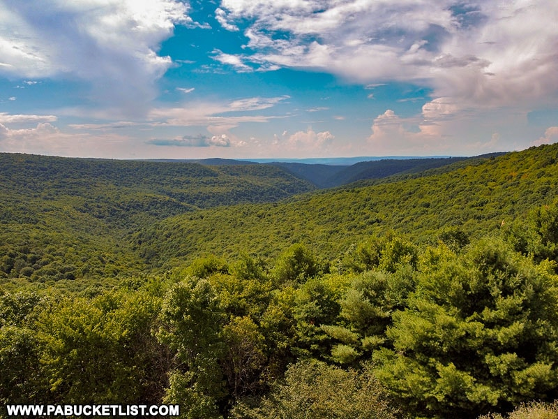Fish Dam Overlook in the Sproul State Forest.