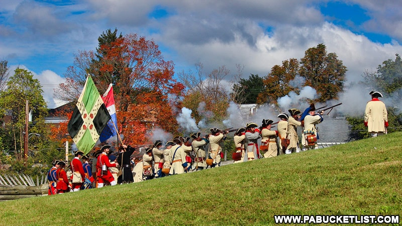 Fall foliage at Fort Ligonier in Westmoreland County Pennsylvania.