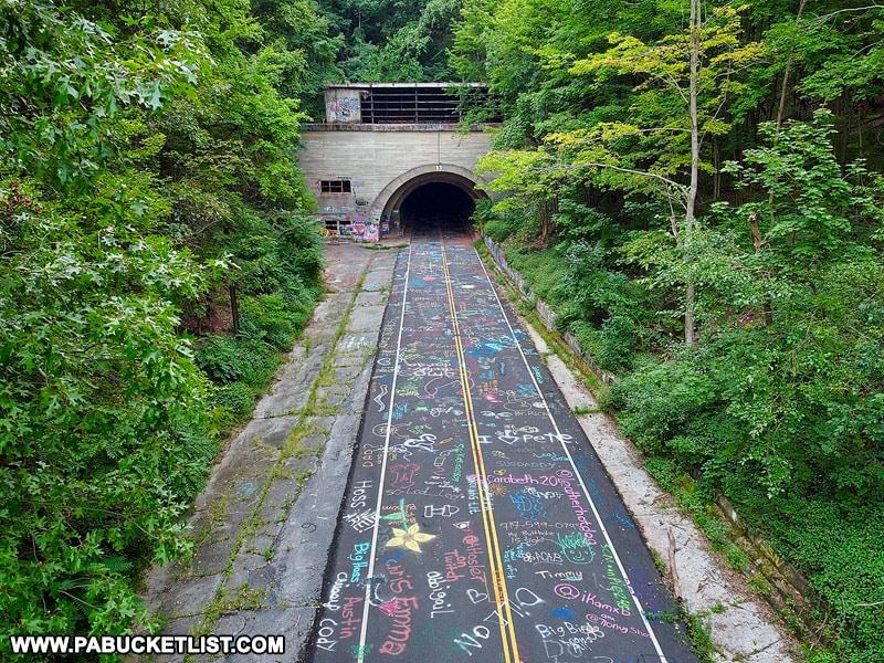 Rays Hill Tunnel along the Abandoned PA Turnpike.