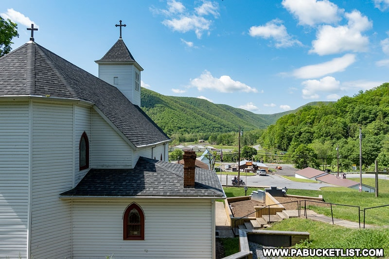 View of the Sinnemahoning Creek Valley from Saint James Church in Driftwood