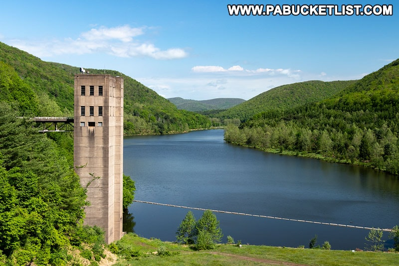 Stevenson Reservoir at Sinnemahoning State Park in Cameron County.