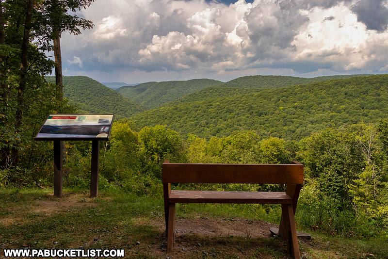 Scenic overlook along Ridge Road in the Square Timber Wild Area.