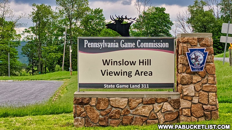 Winslow Hill elk viewing area along Winslow Hill Road.
