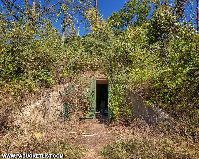 Doorway to Alvira bunker number 2.
