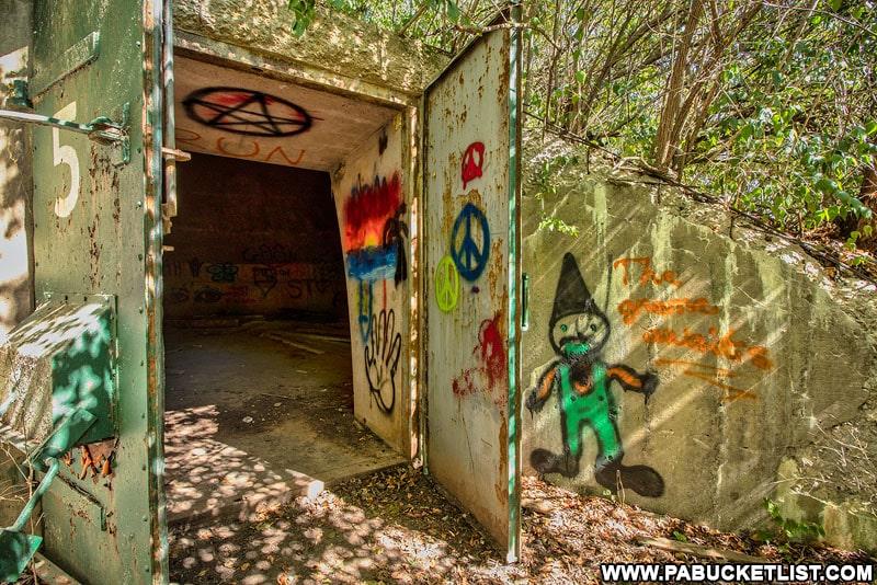 Doorway to Alvira bunker number 5.
