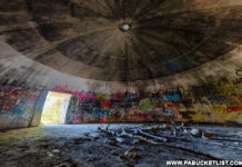 Inside one of the abandoned Alvira bunkers.