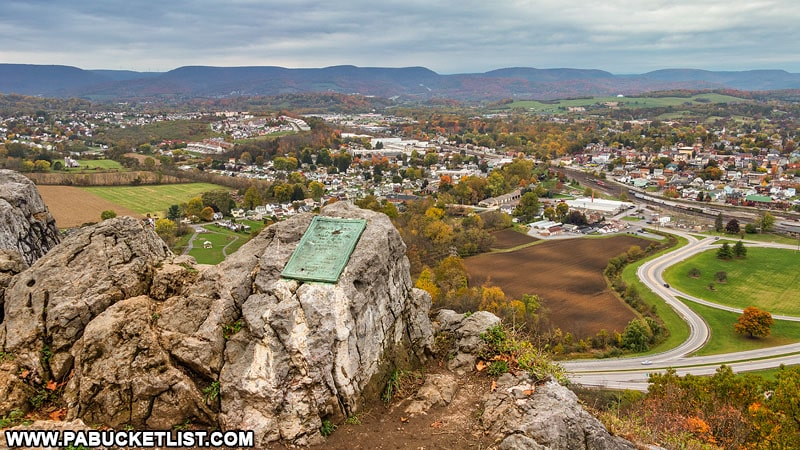 October view of Hollidaysburg from Chimney Rocks.
