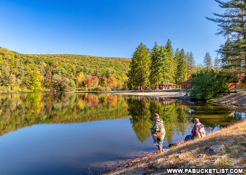 Fall foliage at Greenwood Furnace State Park in Huntingdon County.