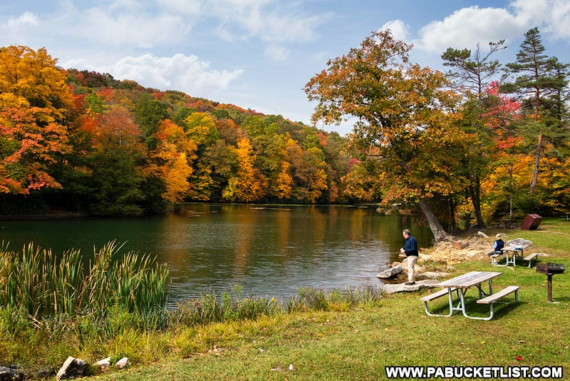 Fall foliage at Kooser State Park in Somerset County.