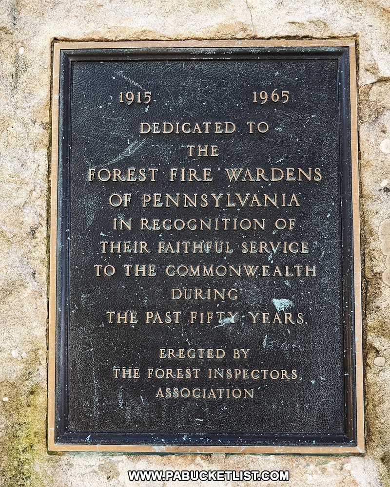 Forest Fire Wardens Memorial at Hyner View State Park