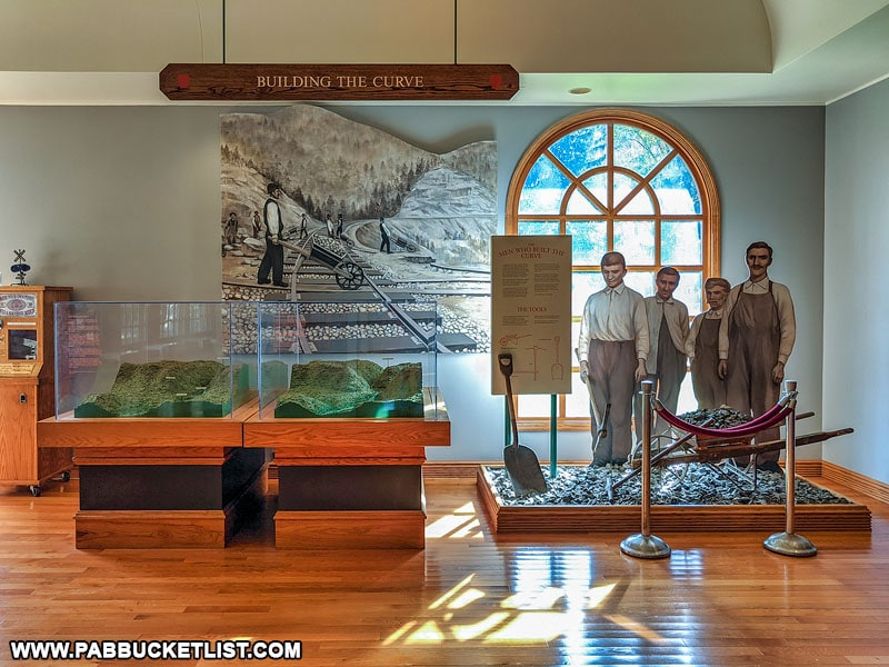 An exhibit at the Visitor Center dedicated to those that built the Horseshoe Curve in Altoona.