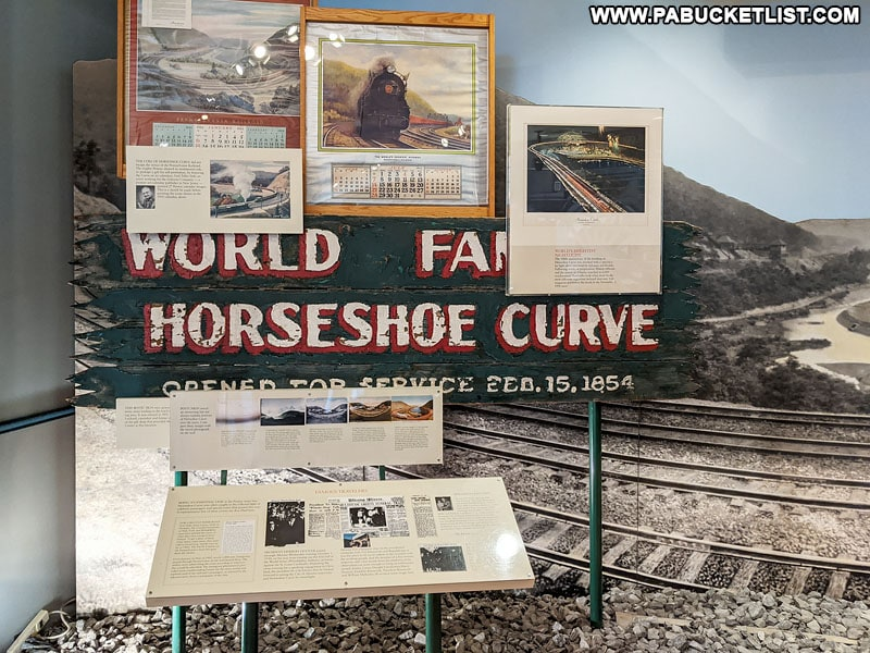 One of the many exhibits inside the Horseshoe Curve Museum and Visitor Center.