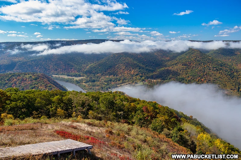 Looking east towards Lock Haven from Hyner View State Park.