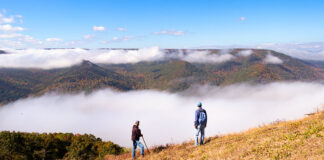 Hikers taking on the view at Hyner Run State Park.
