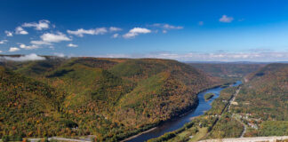 Fall foliage as viewed from Hyner View State Park near Renovo PA