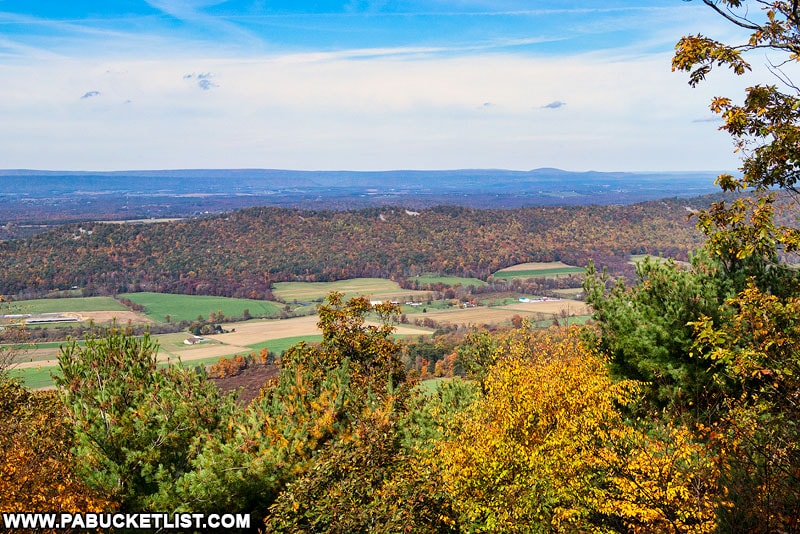Knobsville Vista along the Standing Stone Trail in the Buchanan State Forest