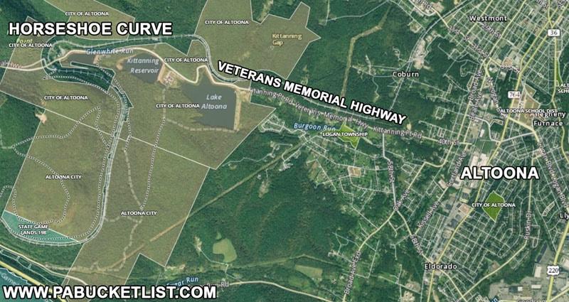 How to find the Horseshoe Curve near Altoona Pennsylvania