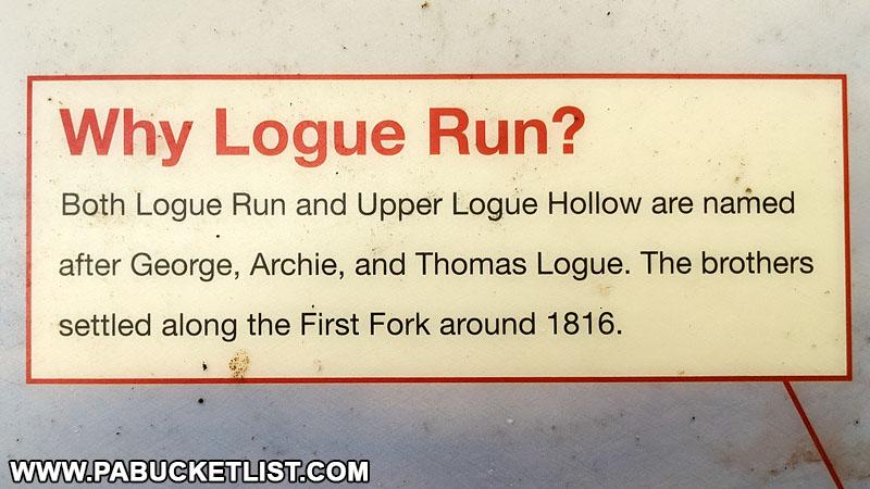 Logue Run Vista sign along Ridge Road in Cameron County.
