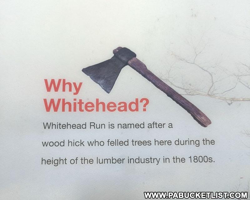 Whitehead Vista sign along Ridge Road in Cameron County.