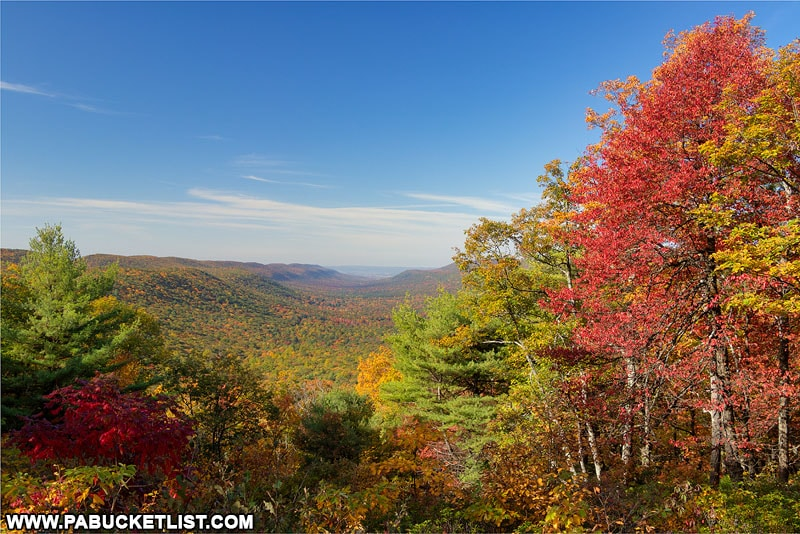 New Lancaster Valley Vista in the Bald Eagle State Forest.