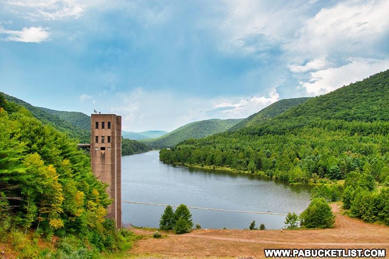 Stevenson Dam Overlook at Sinnemahoning State Park.