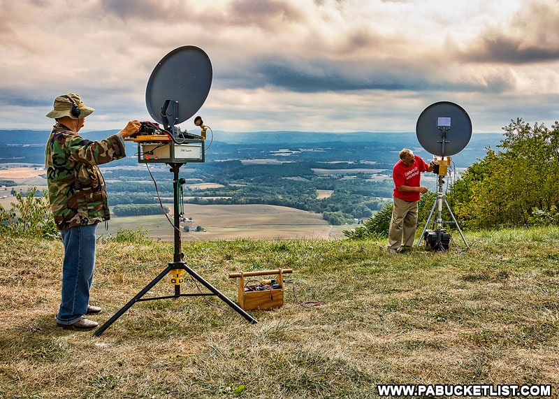 Amateur radio operators at Summit Road Vista in the Buchanan State Forest