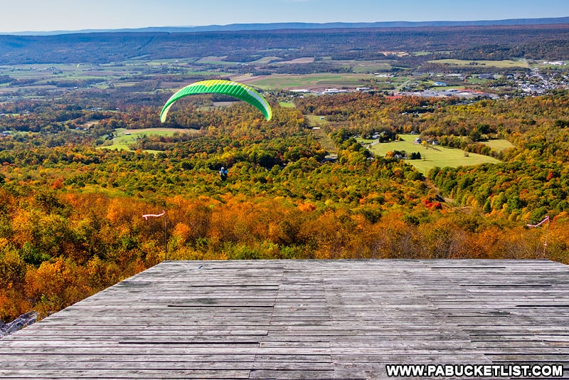 Tuscarora Hang Glider Launch in October 2020