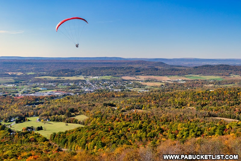 View from the Tuscarora Summit Hang Glider Launch near McConnellsburg PA