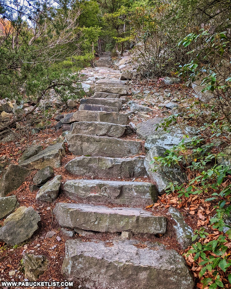 A section of the 1000 Steps in Huntingdon County.