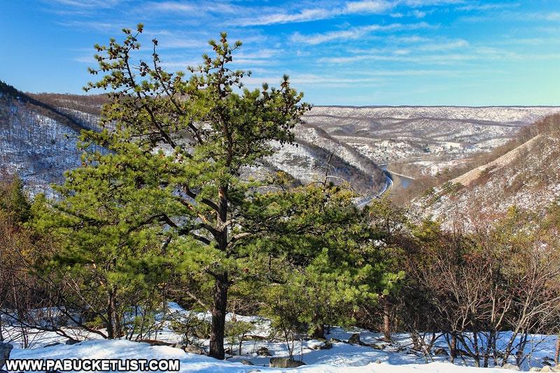 Winter scene from the 1000 Steps near Mount Union.