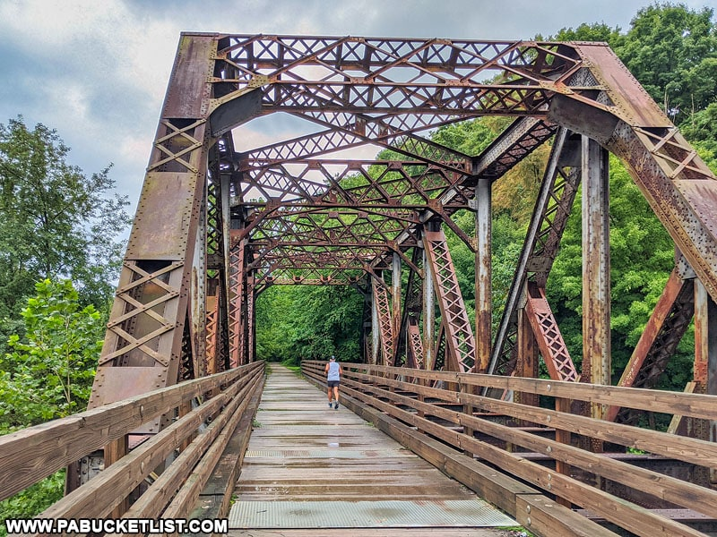 A summer afternoon at Bowest Bridge along the Great Allegheny Passage near Connellsville.