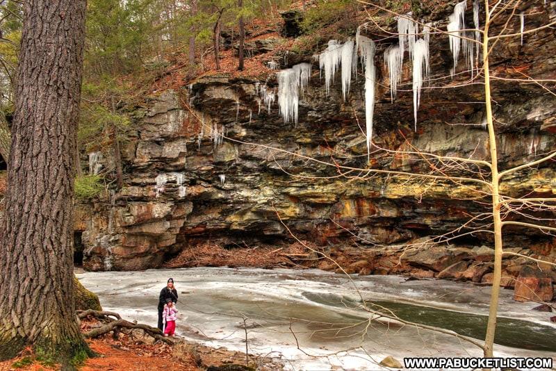 Winter at Copperas Rocks in Huntingdon County.