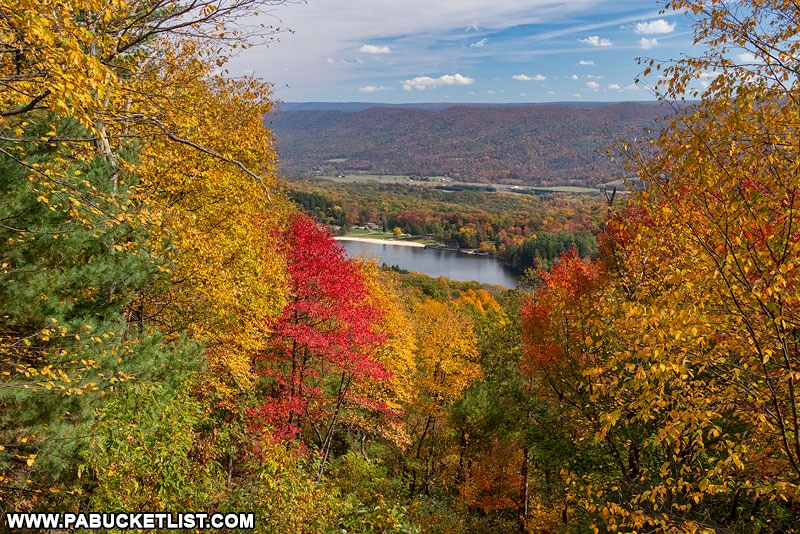 Fall foliage as viewed from Cowans Gap Overlook.