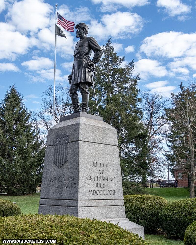 General John Reynolds statue at the Gettysburg National Cemetery.